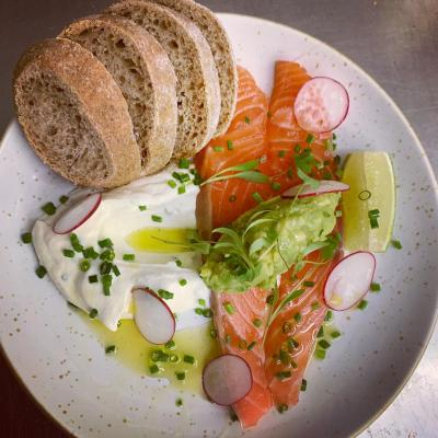 Citrus Cured Salmon Homemade Brown Bread