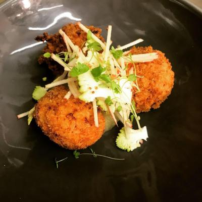 Ham Hock And Cauliflower Cheese Fritters