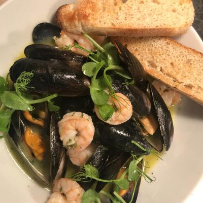 Mussels King Prawns Wild Garlic Butter