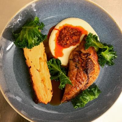 Pheasant Potato Terrine Celeriac And Nduja